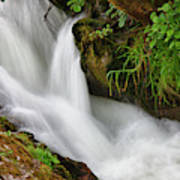 Water Flowing Over Rocks  Hawick Art Print