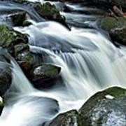 Water Flowsthrough The Mountains Art Print