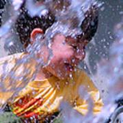 Water Fountain Joy Three Art Print
