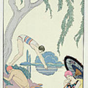 Water Art Print by Georges Barbier