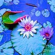 Water Lily I Art Print by Ann Johndro-Collins