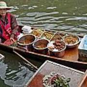 Water Market Thailand 1 Art Print