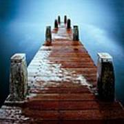 Water On The Jetty Art Print