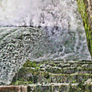 Water Over A Dam Art Print