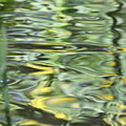 Water Reflection Green And Yellow Print by Dan Sproul