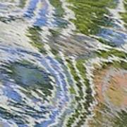 Water Ripples In Blue And Green Art Print