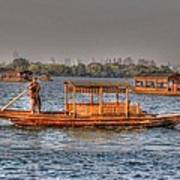 Water Taxi In China Art Print