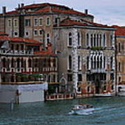 Water Taxi In Venice Art Print