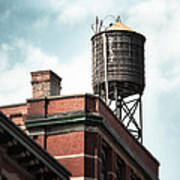 Water Tower In New York City - New York Water Tower 13 Art Print