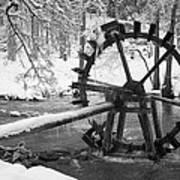 Water Wheel In Snow Art Print