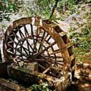 Water Wheel Art Print by Marty Koch