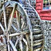 Water Wheel On Mill Art Print