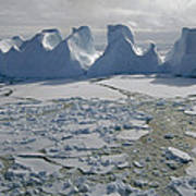 Water Worn Iceberg In Sea Ice Lazarev Art Print