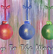 Watercolor Christmas Bulbs Art Print