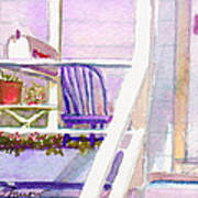 Purple Porch Art Print