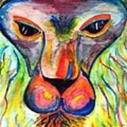 Watercolor Lion Art Print