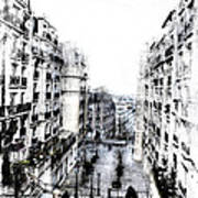 Watercolor Montmartre Art Print