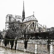 Watercolor Notre Dame Art Print