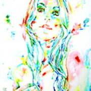 Watercolor Woman.1 Art Print