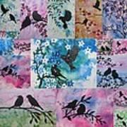 Watercolour Birds Art Print