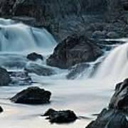 Waterfall After Dusk Art Print