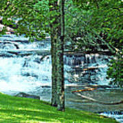 Waterfall And Hammock In Summer 2 Art Print