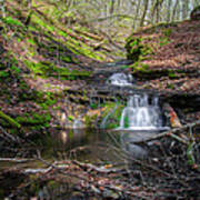 Waterfall At Parfrey's Glen Art Print