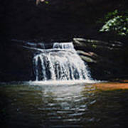 Waterfall At Table Rock National Forest Art Print