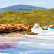 Waterfall Beach Denmark Painting Art Print