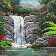 Waterfall Fantasy Art Print