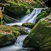 Waterfall Great Smoky Mountains  Art Print