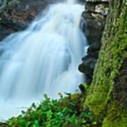 Waterfall - High Water On Falls Brook Art Print