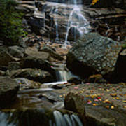 Waterfall In A Forest, Arethusa Falls Art Print