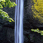 Waterfall In A Forest, Latourell Falls Art Print