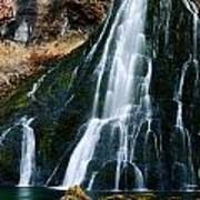 Waterfall In Austria Panorama Art Print