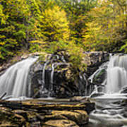 Waterfall In Autumn Art Print