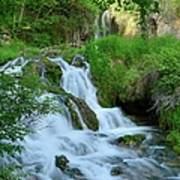 Waterfall In Spearfish Cayon South Art Print