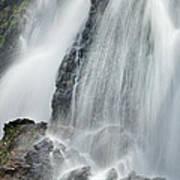 Waterfall In Spring Art Print