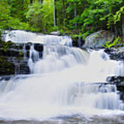 Waterfall In The Pocono Mountains Art Print