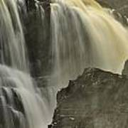 Waterfall On The Rocks Art Print
