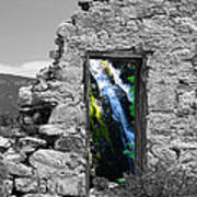 Waterfall Through The Magic Door Art Print