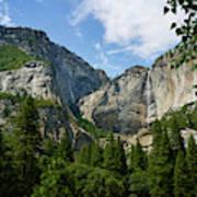 Waterfall, Yosemite Valley, Yosemite Art Print