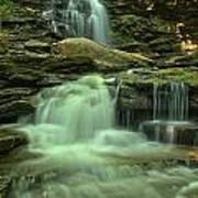 Waterfalling Through Ricketts Glen Art Print