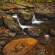 Waterfalls And Swirl Art Print
