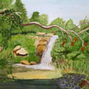 Waterfalls At Red Butte Garden Art Print