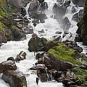 waterfalls in Pre Saint Didier Art Print