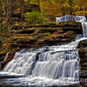 Waterfalls In The Fall Art Print by Susan Candelario