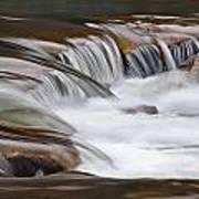 Waterfalls On The Blue Art Print