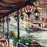 Waterfront Cafe Art Print