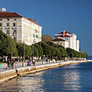 Waterfront Promenade In Zadar Art Print